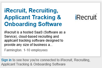 Linkedin Profile Plugin iRecruit